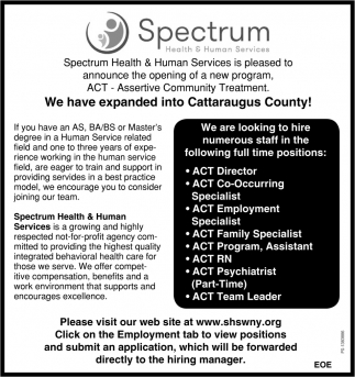 We Have Expanded Into Cattaraugus County!