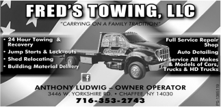 Fred's Towing