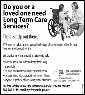 Do You Or A Loved One Need Long Term Care Services?