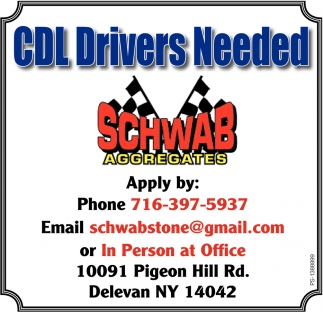 CDL Drivers Needed