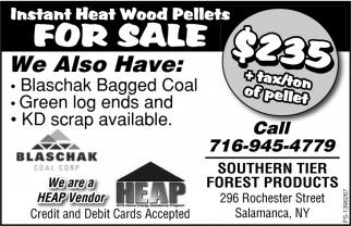 Instant Heat Wood Pellets For Sale