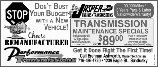 Don't Bust Your Budget with a New Vehicle!, Performance Transmissions, Sandusky, NY