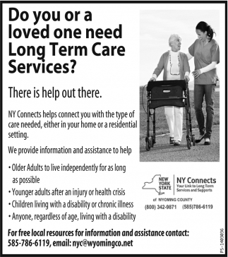 Do you or loved one need Long Term Care Services?