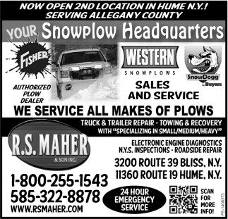 Now Open 2nd Location In Hume N.Y!