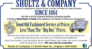 Good ols fashioned service at price