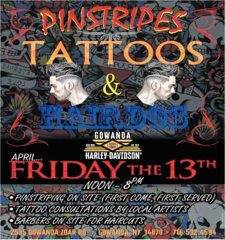 Pinstripes Tattoos & Hairdos