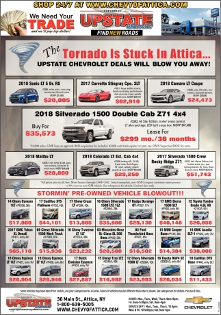 Upstate Chevrolet Deals, Upstate Chevrolet, Attica, NY