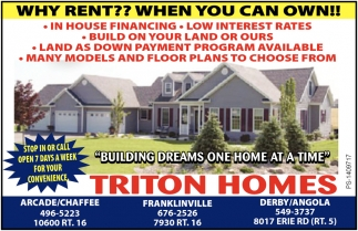Why Rent?? When You Can Own!!