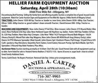 Hellier Farm Equipment Auction