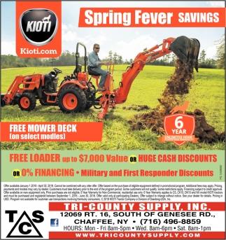 Spring Fever Savings