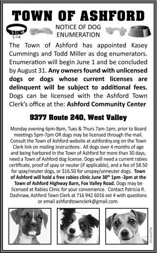 Notice Of Dog Enumeration
