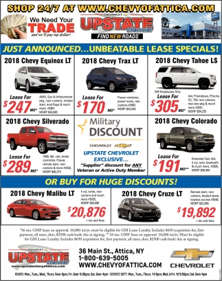 Unbeatable Lease Specials!