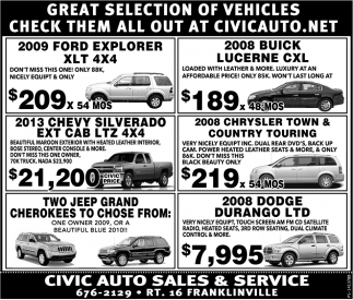 Great Selection Of Vehicles