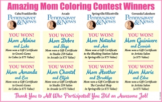 Amazing Mom Coloring Contest Winners