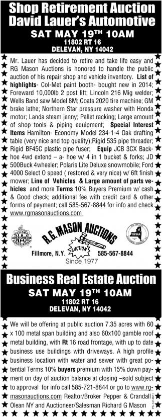 Shop Retirement Auction