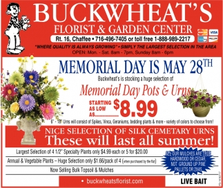 Memorial Day Is May 28th