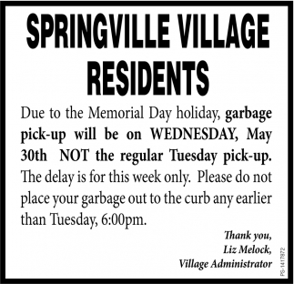 Springvillage Village Residents