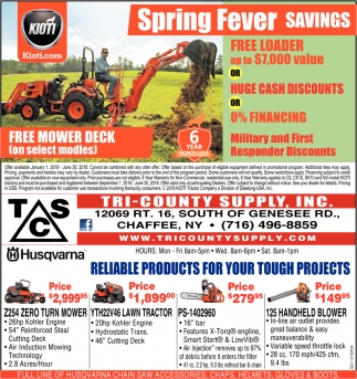 Spring Fever Savings