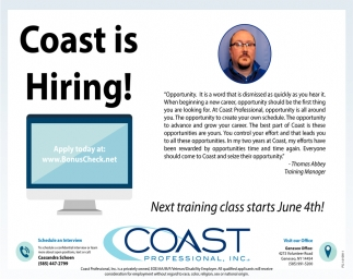 Coast Is Hiring!