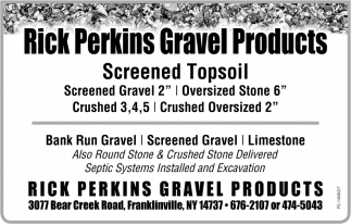 Screened Topsoil, Rick Perkins Gravel Products, Franklinville, NY