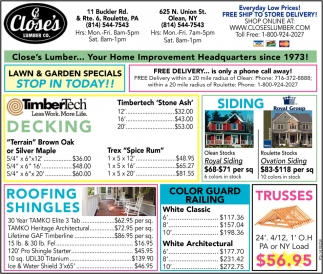 Lawn And Garden Specials