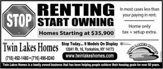 Stop Renting Start Owning