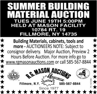 Summer Building Material Auction