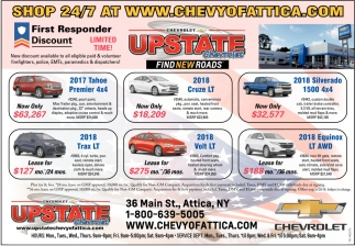 Find New Roads, Upstate Chevrolet, Attica, NY