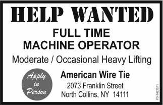 Help Wanted, American Wire Tire