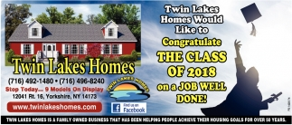 A Job Well Done, Twin Lakes Homes, Yorkshire, NY