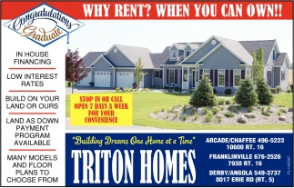 Why Rent? When You Can Own!!