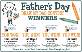 Draw My Dad Contest Winners