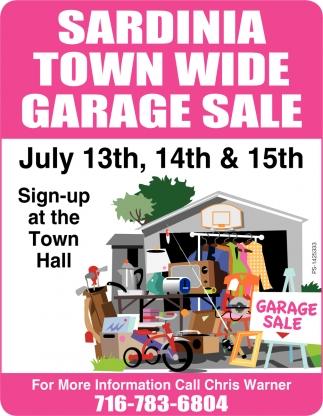 Wide Garage Sale