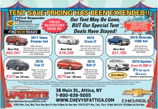 Tent Sale Pricing Has Been Extended!