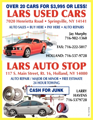 Used Cars, Lars Auto Shop, Holland, NY