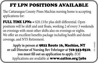 FT LPN Positions