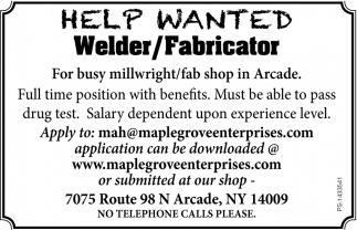 Help Wanted, Maple Grove Enterprises