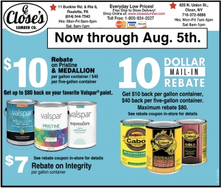 Dollar Mail-In Rebate