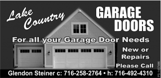 Lake Country Garage Doors Home Improvements Ads From Arcade Pennysaver