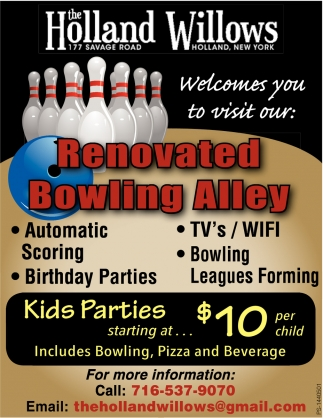 Renovated Bowling Alley
