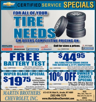 For All Of Your Tire Needs