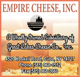 A Wholly Owned Subsidiary Of Great Lakes Cheese