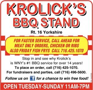 BBQ & Hot Sandwich Stand