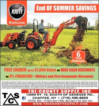 End Of Summer Savings
