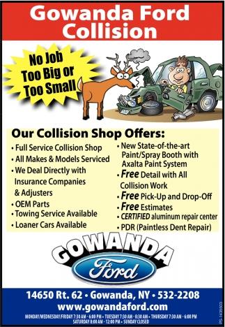 Gowanda Ford Collision