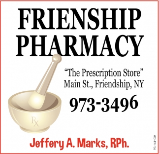 The Prescription Store, Friendship Pharmacy, Friendship, NY