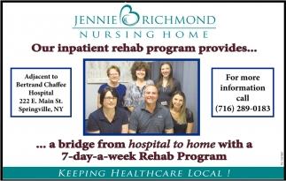 Our Patients Rehab Program