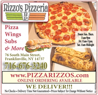 Pizzas Wings Subs & More