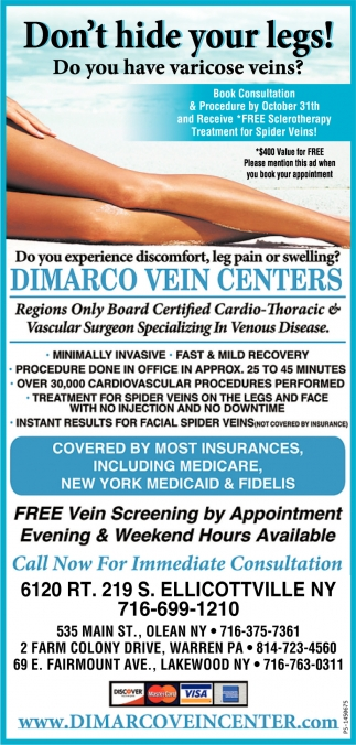 Don't Hide Your Legs!, Dimarco Vein Centers, Ellicottville, NY