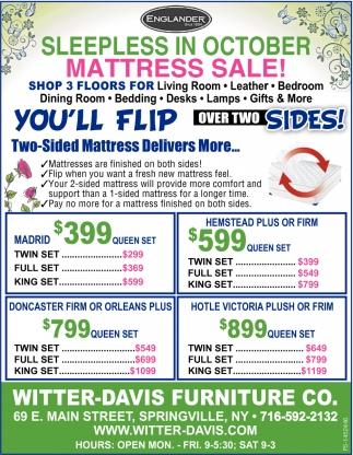 Sleepless In July Mattress Sale!